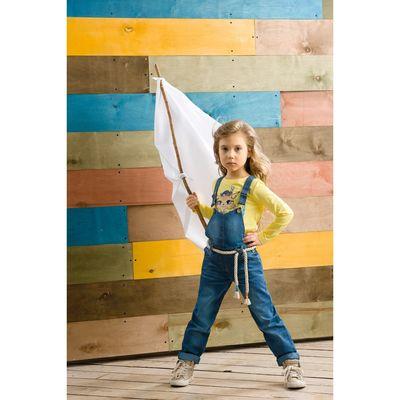 Комбинезон для девочек , рост 98 см, цвет голубой, GWRB3017