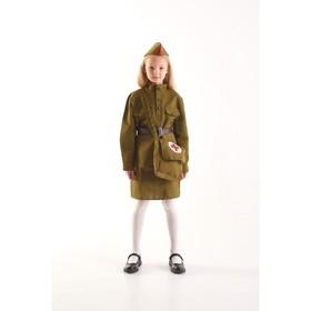 Костюм военного 'Санитарка' для девочки, 3-5 лет рост 104-116 см Ош