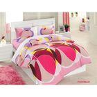 Постельное бельё DECORITE дуэт, 240х260, 160x220-2 шт., 70х70-2шт., бязь 115 г/м², цвет розовый