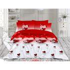 Постельное бельё LOVELIY 2 сп., 240х260, 200x220, 70х70-2 шт., бязь 115 г/м², цвет красный