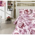 Постельное бельё LUISA 1,5 сп., 160x240, 160x220, 70х70-2шт., бязь 115 г/м², цвет бордовый