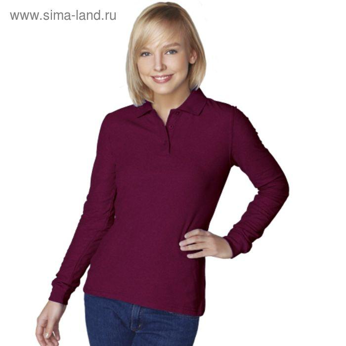 Рубашка-поло женская StanPolo, размер 44, цвет винный 185 г/м