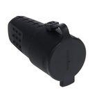 Розетка штепсельная UNIVersal, 16 А, с з/к, IP 44, с заглушкой, каучук, черная