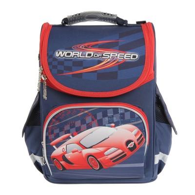 Ранец Стандарт Smart PG-11 34*26*14 мал World of speed, синий 553426