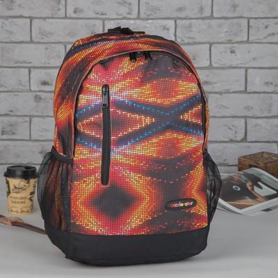 Рюкзак подр Космос 31*13,5*43,5 отдел на молнии нар карман 2 бок сетки оранжевый