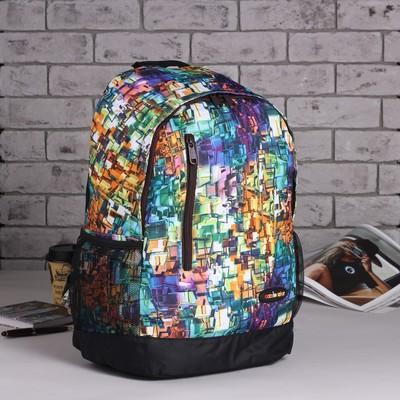 Рюкзак подр Пиксель 31*13,5*43,5 отдел на молнии нар карман 2 бок сетки зелёный