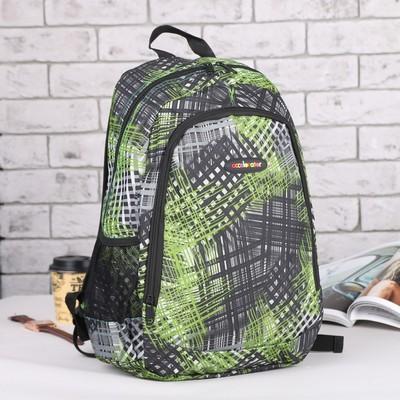 Рюкзак подр Спринт, 32*17*45 отдел на молнии нар карман 2 бок сетки зелёный