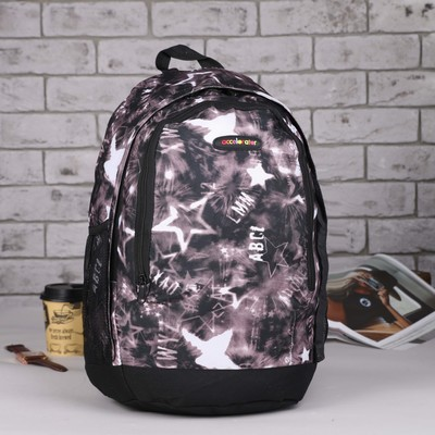 Рюкзак подр Звезды 32*17*46 отдел на молнии нар карман 2 бок сетки коричневый