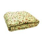 Одеяло облегченное 1,5сп 142х205 овечья шерсть 200г/м, тик 150г/м, хл100%
