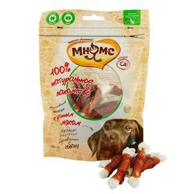Лакомство Мнямс для собак, кальцинированные косточки с утиным мясом, 100 г