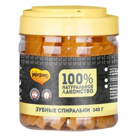 Лакомство Мнямс для собак, крученые зубные палочки с фруктами, 340 г