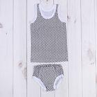 Комплект для мальчика (майка+трусы) рост 92-98 см, цвет светло-серый, принт микс  1060-56_М   210632