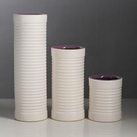 "Набор ваз ""Труба"" 3 шт, цветная, микс"