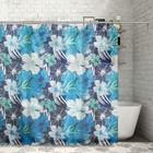 """Штора для ванной 180х180 см """"Тропические цветы"""", полиэстер"""