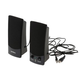 Акустическая система 2.0 Perfeo UNO PF-210, 2х3Вт, USB, черные