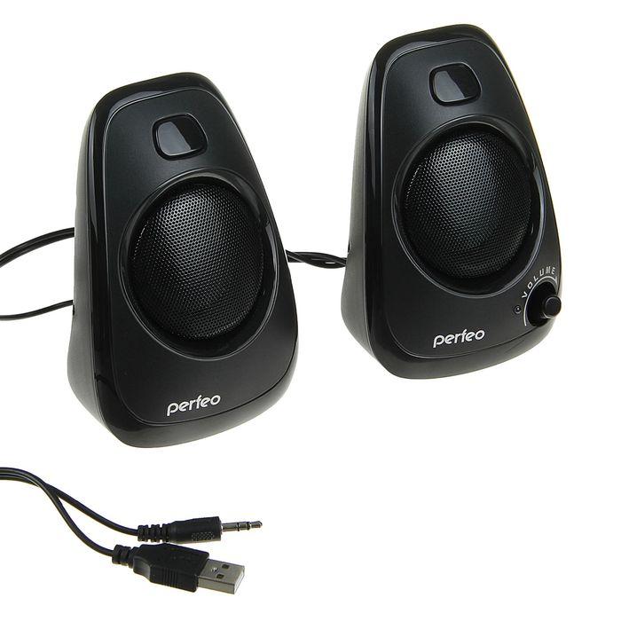 Акустическая система 2.0 Perfeo DELTA PF-057, 2х3Вт, USB, черные
