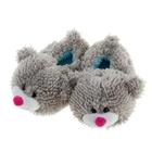 """Тапочки-зверушки """"Мишка серый"""", 36 размер"""