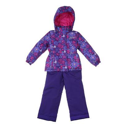 Комплект для девочки (куртка и полукомбинезон), рост 116 см, цвет тёмно-синий MS17102