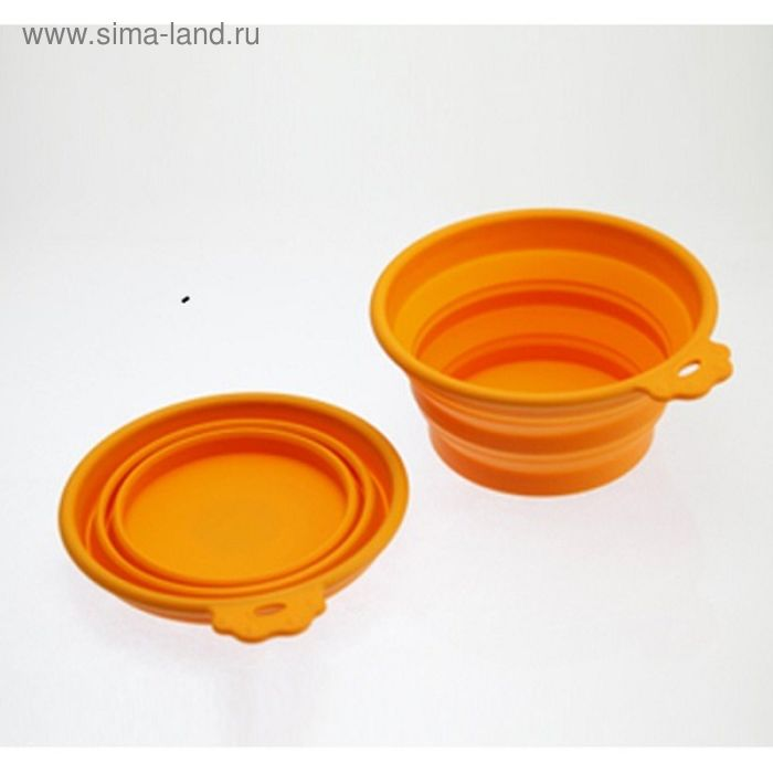 Миска SuperDesign  силиконовая складная малая, 350 мл, оранжевая
