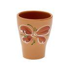 """Стакан керамический """"Цветок"""", коричневый"""