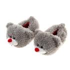 """Тапочки-зверушки """"Мишка"""", 36 размер"""