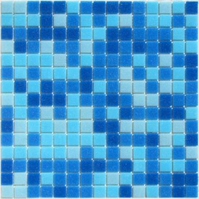 Мозаика стеклянная на бумаге Bonaparte, Aqua-100 327х327х4 мм
