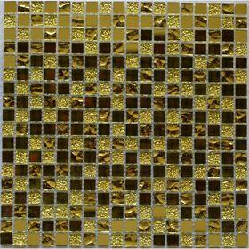 Мозаика стеклянная Bonaparte, Mirror Gold 300х300х4 мм