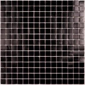 Мозаика стеклянная на бумаге Bonaparte, Simple Black 327х327х4 мм