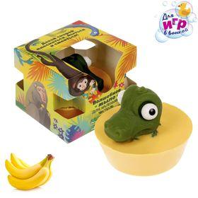 """Мыло детское с игрушкой """"Крокодил"""", банан"""