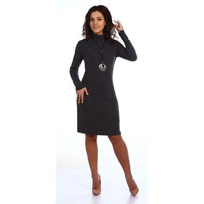 Платье женское Тамила 2107, цвет тёмно-серый, р-р 52