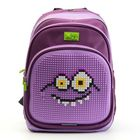 """Рюкзак школьный эргономичная спинка Пиксель 4ALL KIDS 39*27*17 см RK61-03N """"Монстр Водяной"""", фиолетовый"""