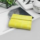 Кошелёк женский, скат, цвет жёлтый