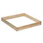 """Песочница деревянная """"Квадрат"""", без крышки, 138 х 147 х 20 см, сосна"""