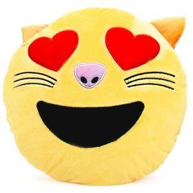 Подушка декоративная Смайл влюбленный кот, 30х30, холлофил, п/э Ош