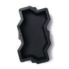 Форма для тротуарной плитки «Волна», 21 х 11 х 6 см, шагрень, Ф11006