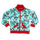 Куртка для девочки, рост 92 см, цвет светло-зелёный, принт бабочки  581212-5