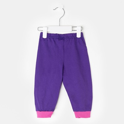 Брюки для мальчика, рост 80 см, цвет фиолетовый  233120-6_М