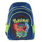 Рюкзак школьный «Покемоны» 36*25.5*10 уплотненная спинка, 2 боковых и 1 внешний карманы 87819