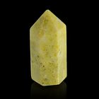 Призма из камня. Оливковый жадеит от 12х33мм/16г:коробка