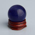 Шар из камня. Голубой кварц от 29мм/55г: подставка, коробка