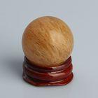 Шар из камня. Дымчатый кварц от 29мм/55г: подставка, коробка