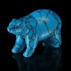 Фигурка медведя от 48х32мм/38г, бирюза