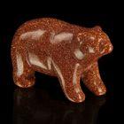 Фигурка медведя от 48х32мм/38г, авантюрин