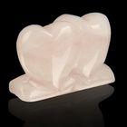 интерьерные сувенирные природные сердца из минералов