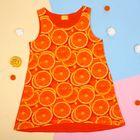 """Майка для девочки """"Апельсины"""", рост 98 см (52), принт апельсины ДДБ325001н"""