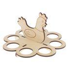 "Подставка для яиц ""Курочка"", 8 яиц (набор 4 детали)"
