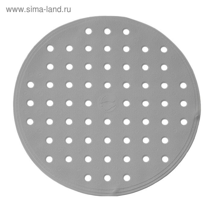SPA-коврик противоскользящий Action, цвет коричневый, Ø 53 см, Aqm