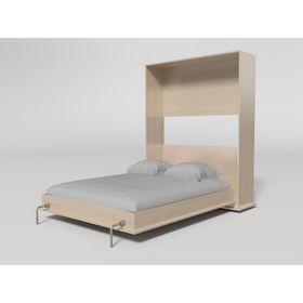 Шкаф-кровать Гармония вертикальная 1600 с основанием, Дуб молочный