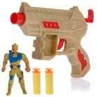 """Пистолет """"Командир"""", с фигуркой солдата, стреляет мягкими пулями, цвета МИКС"""