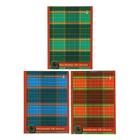 """Блокнот А6, 40 листов на скрепке """"Шотландка"""", 3 вида микс"""